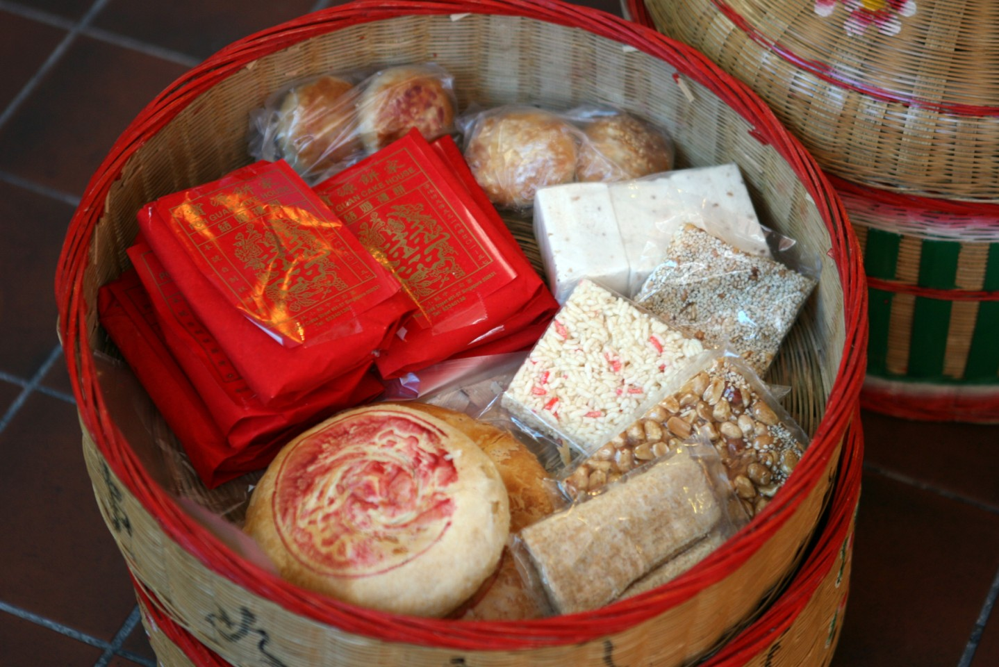 Traditional Chinese wedding pastries. (SPH)