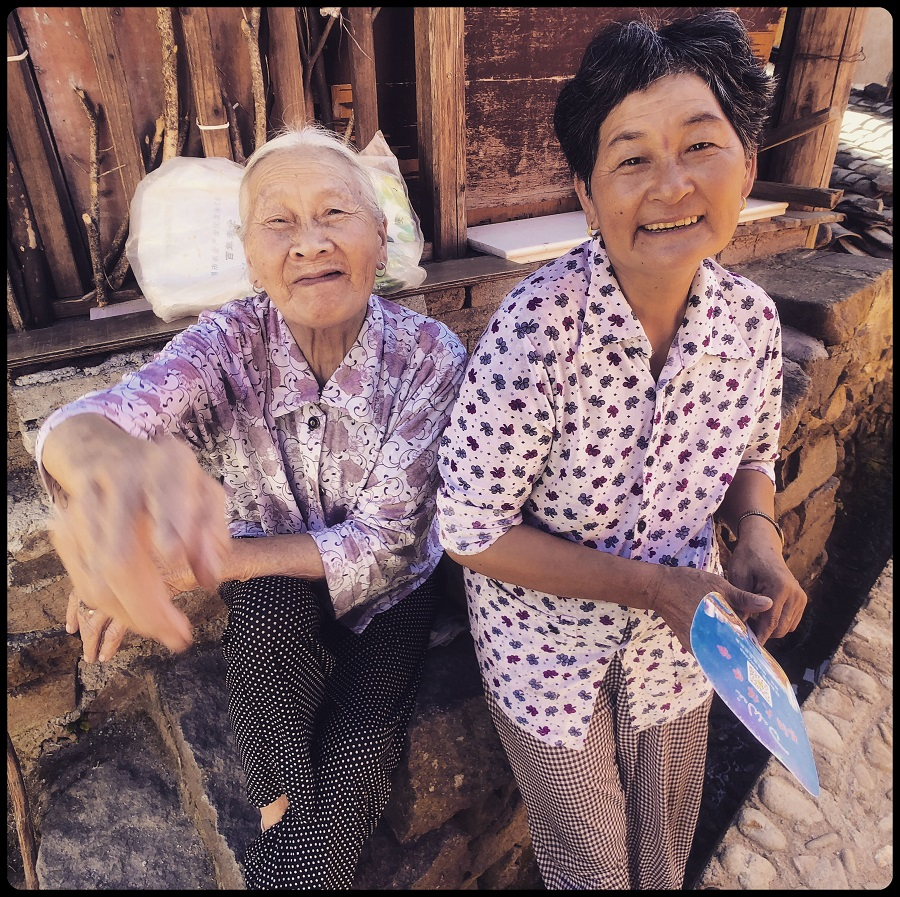 Two charming local villagers delighted to pose for my camera and share their good nature and humour.