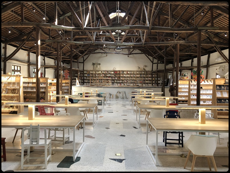 The Rong Design Library in Qinshan village (青山村), Zhejiang province, a local initiative focused on local craft, has helped rejuvenate the village into a design hub.