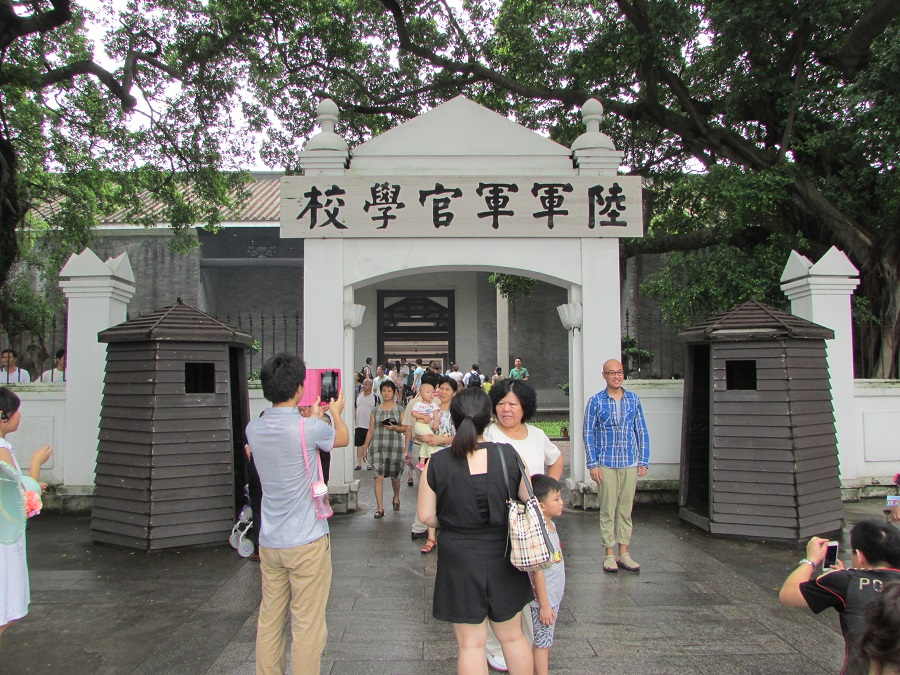 Tourists take photos outside the Whampoa Military Academy Memorial Site in Guangzhou, China. (SPH)