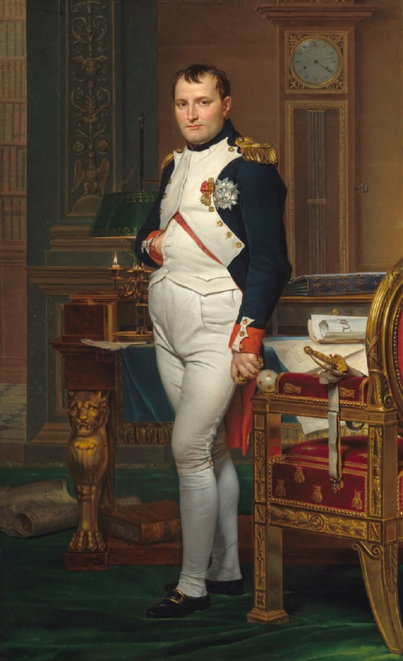 Jacques-Louis David, 1812, The Emperor Napoleon in His Study at the Tuileries, National Gallery of Art, Washington DC