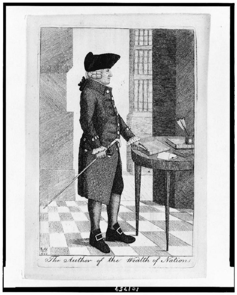 A portrait of Adam Smith. (United States Library of Congress's Prints and Photographs division)