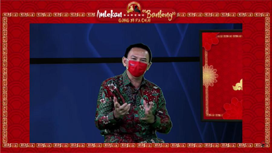 Basuki Tjahaja Purnama (Ahok), former governor of Jakarta. (Screengrab from the PDI Perjuangan YouTube channel)