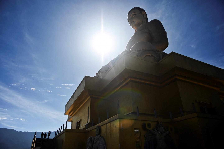 The Great Buddha Dordenma statue in Thimphu. (Lillian Suwanrumpha/AFP)