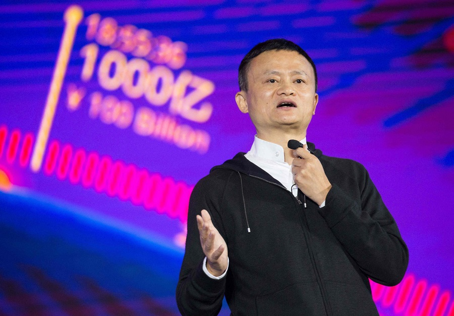 This file photo taken on 11 November 2016 shows Alibaba chairman Jack Ma speaking on stage during a gala in Shenzhen, Guangdong province, China. (STR/AFP)