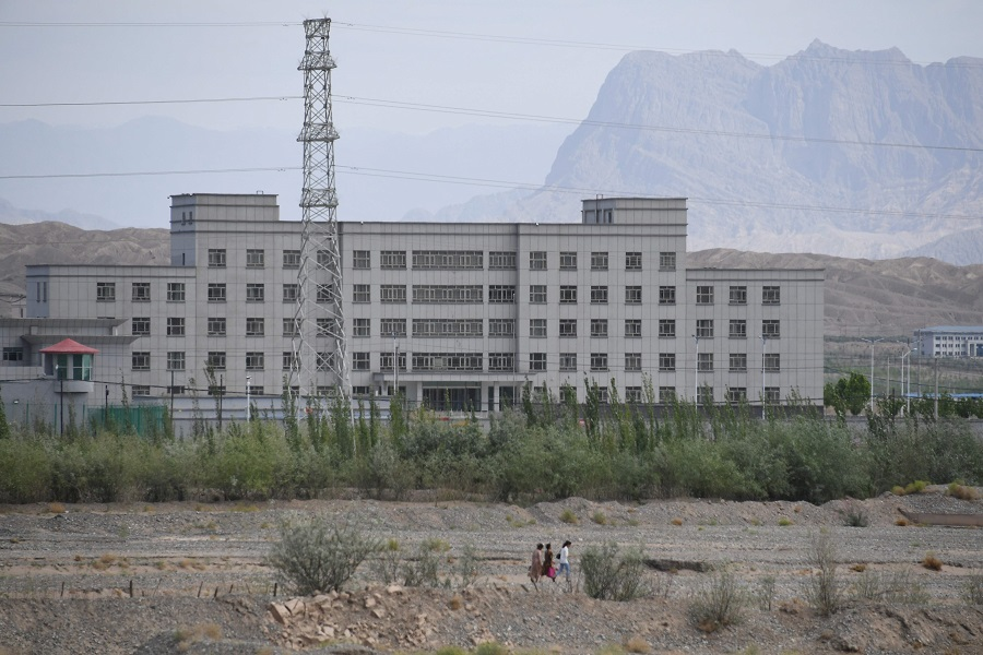 This file photo taken on 2 June 2019 shows a facility believed to be a re-education camp where mostly Muslim ethnic minorities are detained, in Artux, Kashgar, Xinjiang, China. (Greg Baker/AFP)