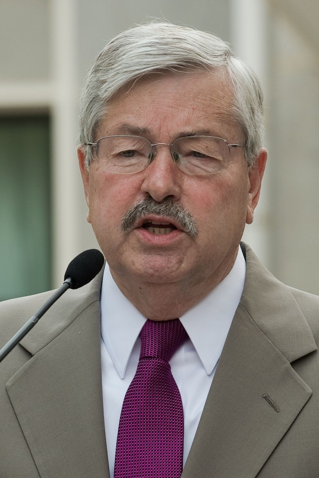 In this file photo, US Ambassador to China Terry Branstad speaks to the media during a press conference at his residence in Beijing on 28 June 2017. (Nicolas Asfouri/AFP)