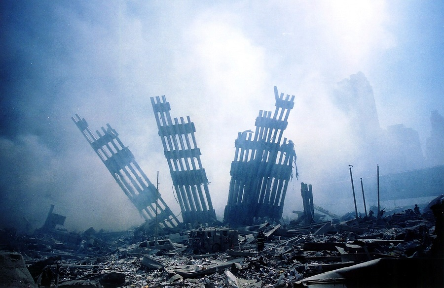 In this file photo taken on 11 September 2001, the rubble of the World Trade Centre smoulders following a terrorist attack on 11 September 2001 in New York. (Alex Fuchs/AFP)