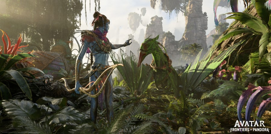 """This undated screengrab released by Ubisoft shows an image from the trailer of the company's new game """"Avatar: Frontiers of Pandora"""". (Ubisoft Entertainment/AFP)"""