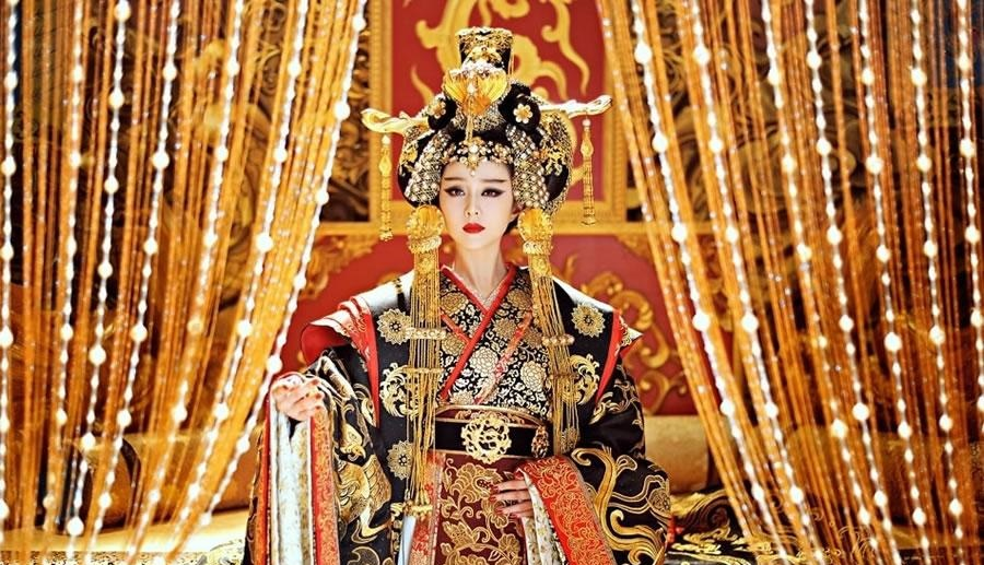 Fan Bingbing as Wu Zetian in the drama, The Empress of China. (Internet)