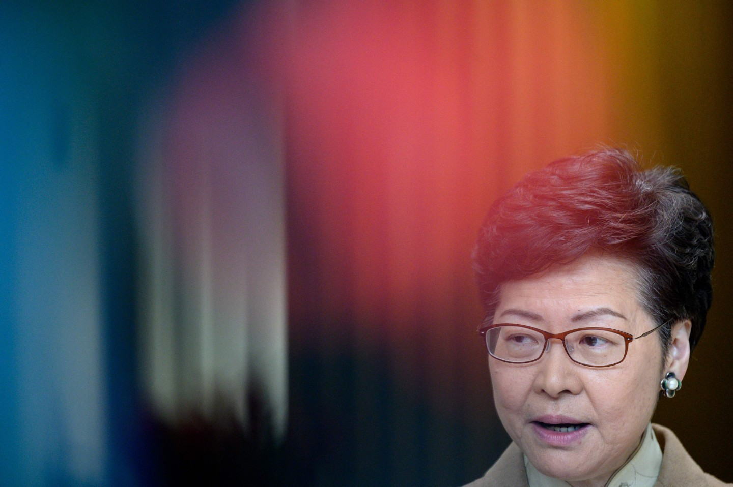 Hong Kong's Chief Executive Carrie Lam speaks during her weekly press conference in Hong Kong on 7 January 2020. (Philip Fong/AFP)