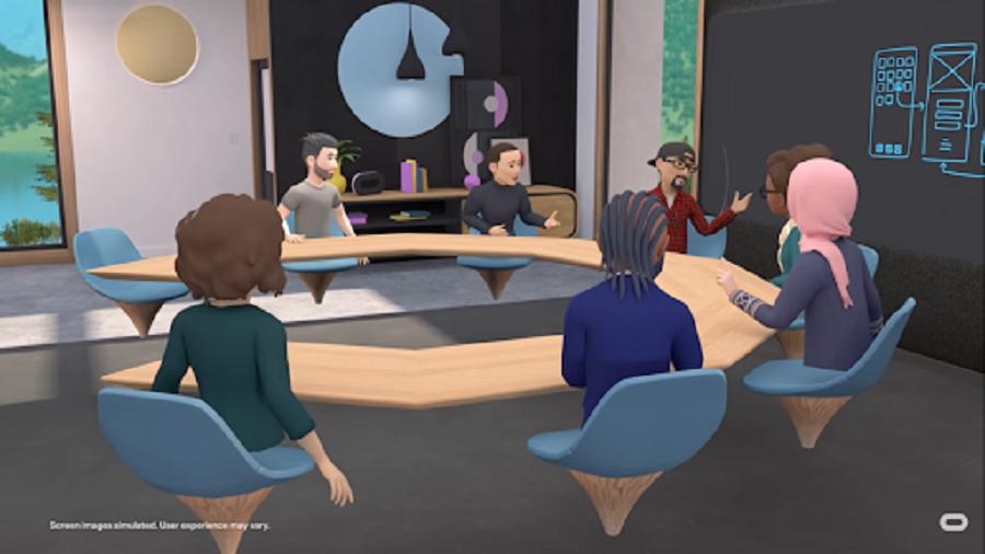 Screengrab from Horizon Workrooms demonstration. (Youtube/Oculus)