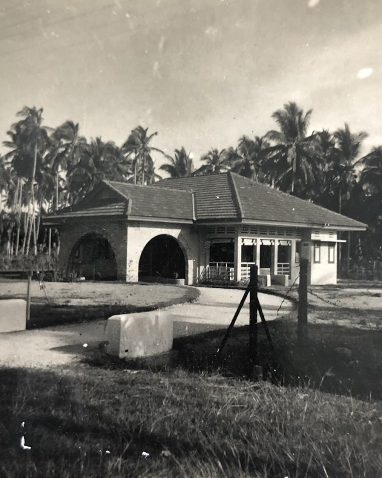 The Teo family's Punggol residence in the 1950s.