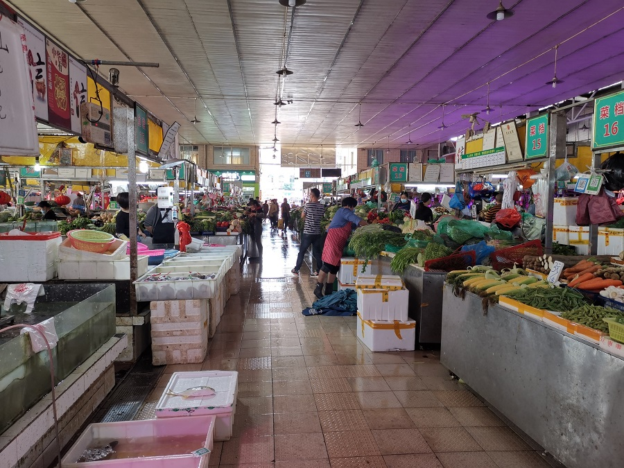 Vegetable stalls