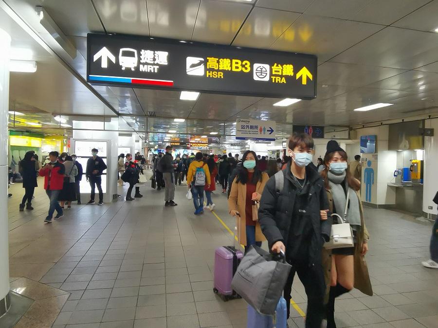 Commuters in Taiwan.