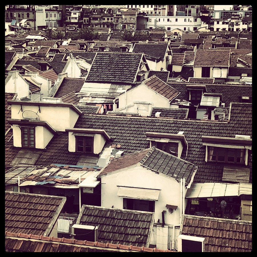 Typical roofscape of the dwellings targeted for replacement with modern developments.