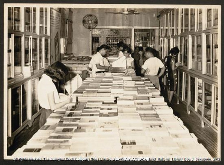 Readers are seen at the second floor of the Shanghai Book Company. (Shanghai Book Company/National Library Board)
