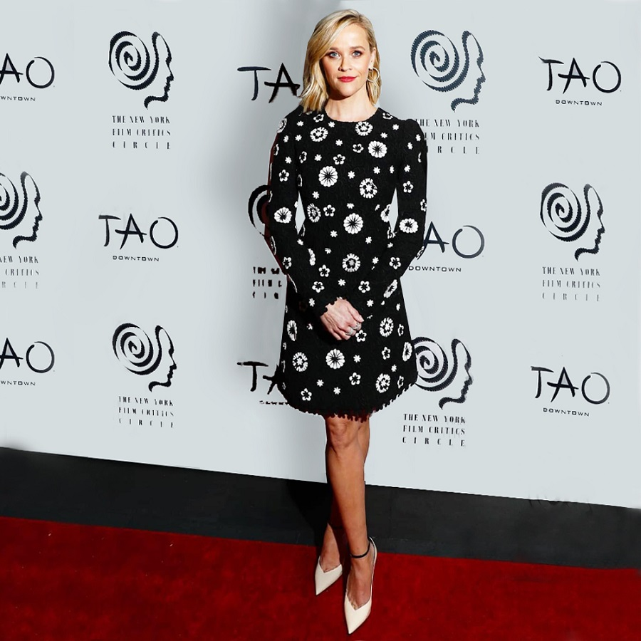 Reese Witherspoon wearing Andrew Gn W19 - New York Film Critics Circle Awards at Tao Downtown, NYC 9 January 2020