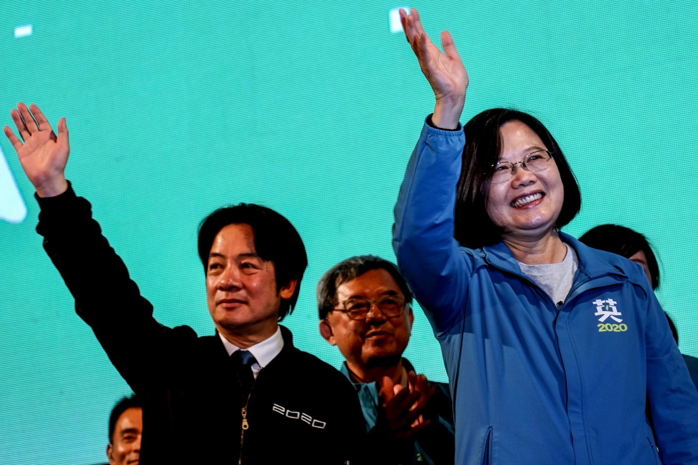 Taiwan's President-elect Tsai Ing-wen (right), and Vice-President-elect William Lai (left). Lai has been drawing much criticism for visiting the US. (Sam Yeh/AFP)