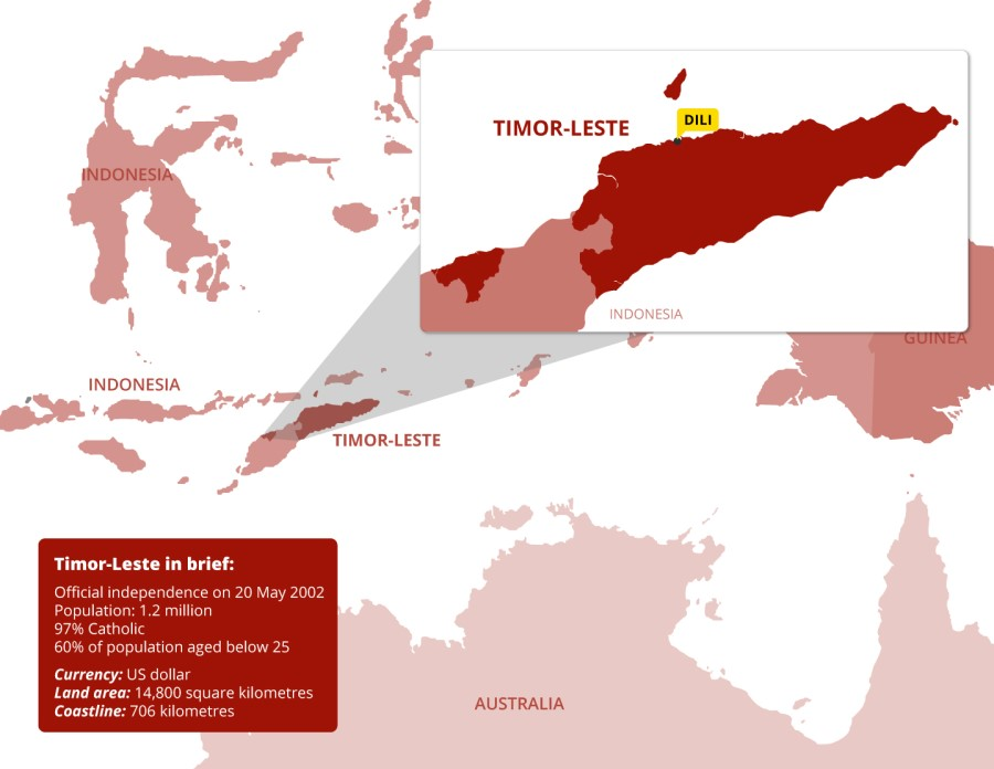 timor leste map