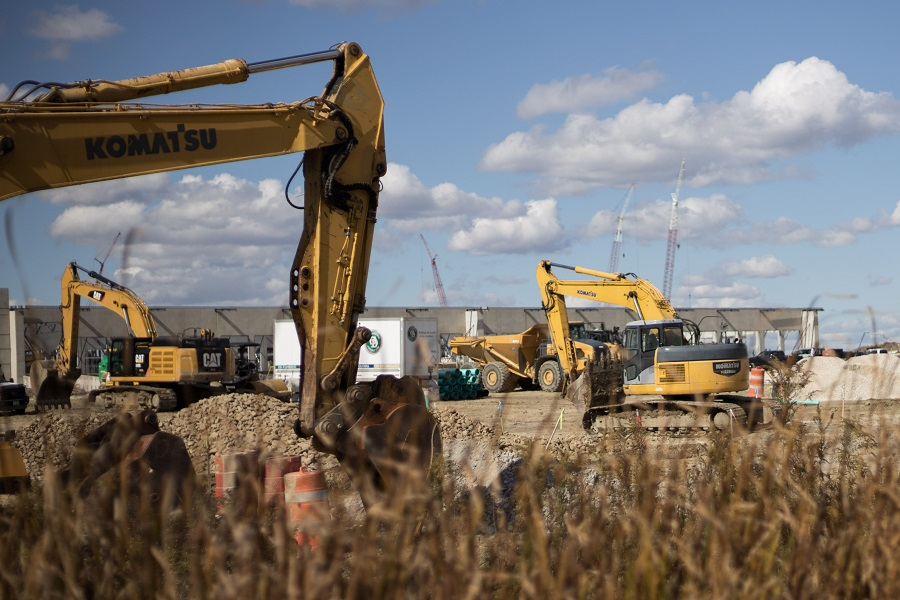 Ultium, a company that will mass produce battery cells for electric vehicles, is under construction in Lordstown, Ohio, US, on 16 October 2020. (Megan Jelinger/AFP)