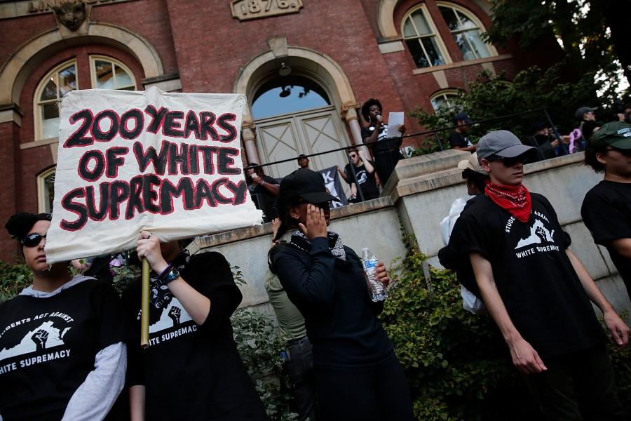 white supremacy protest