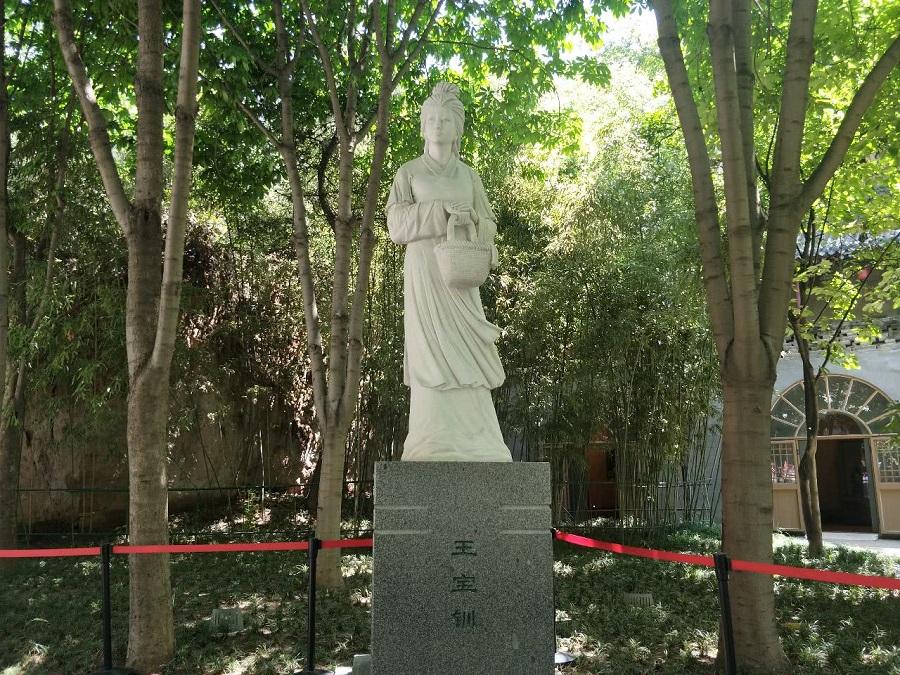 Wang Baochuan sculpture in Xi'an, Shaanxi. (Internet)