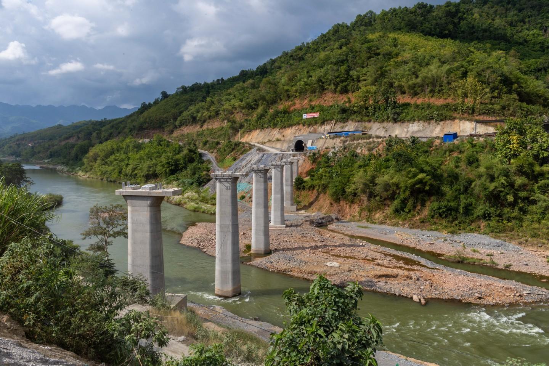 China-Laos railway project's tunnel and bridge under construction, 7 November 2019. (Xinhua)