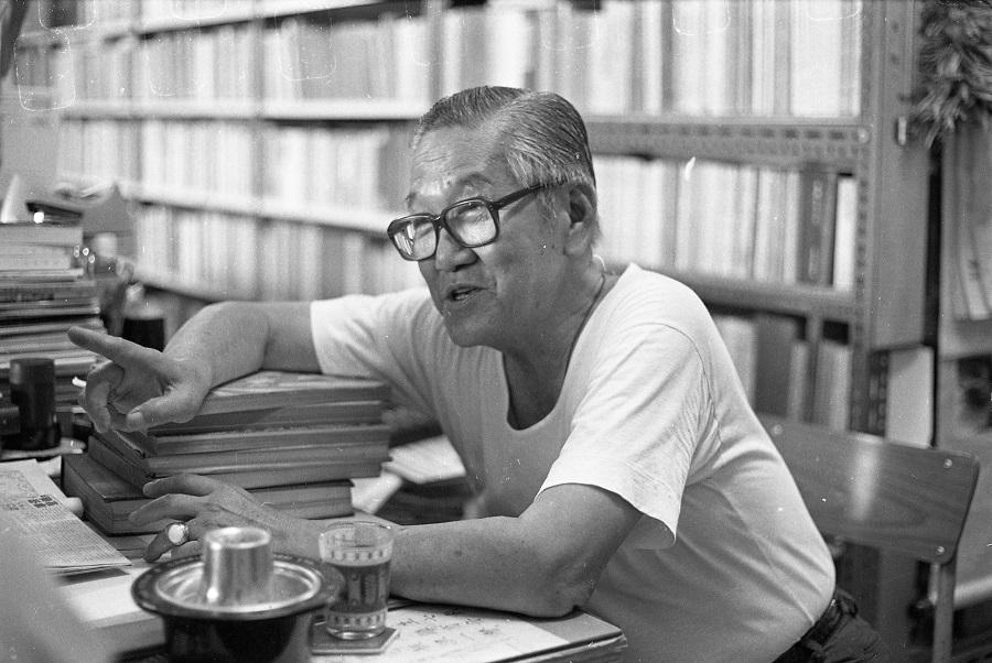 Mr Yeow Li-chi at his bookshop at Bras Basah Complex. (SPH)
