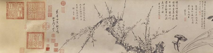 Zhou Zhimian, Hundred Flowers (《百花图》), partial, The Palace Museum. (Internet)