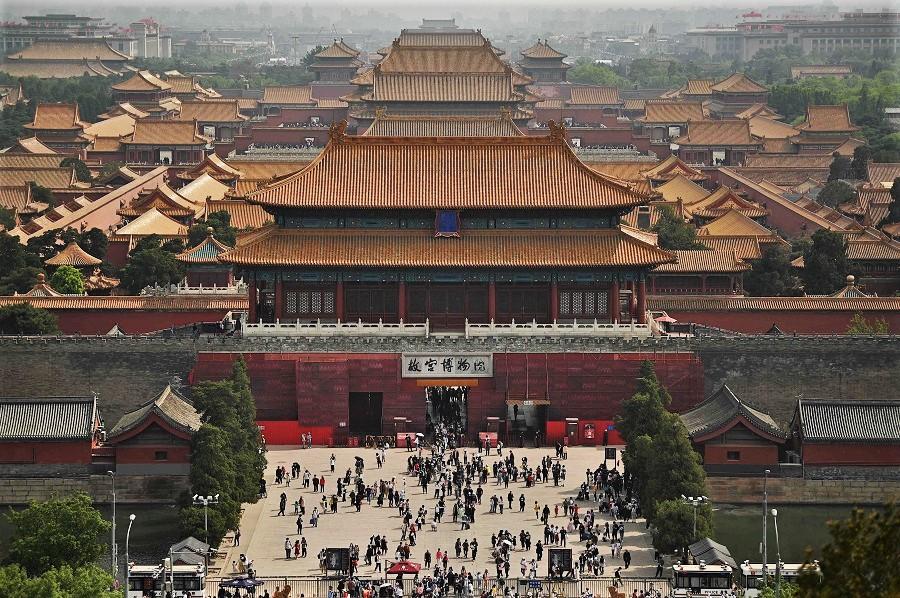People visit the Forbidden City in Beijing, China, 3 May 2021. (Noel Celis/AFP)