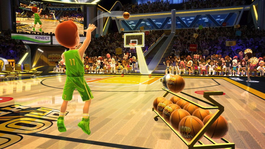 Screenshot of Kinect Sports Season Two Basketball Challenge Pack, a motion-sensing game. (Microsoft)