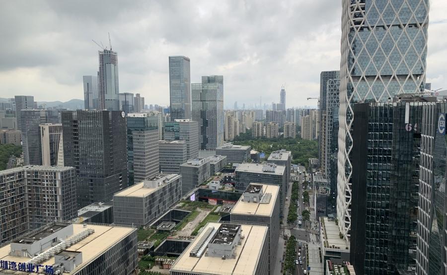 A birds-eye view of Shenzhen's Nanshan District as seen from the Tencent building. (Photo: Han Yong Hong)