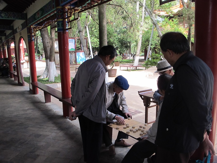 Chess-playing in Cuihu Park, Kunming, 2017.