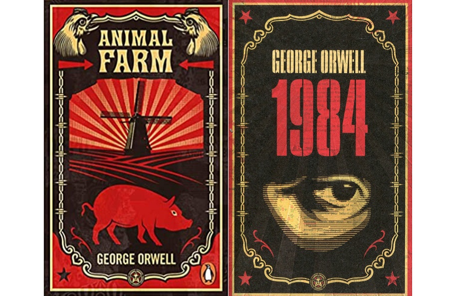 Animal Farm and 1984. (Internet)