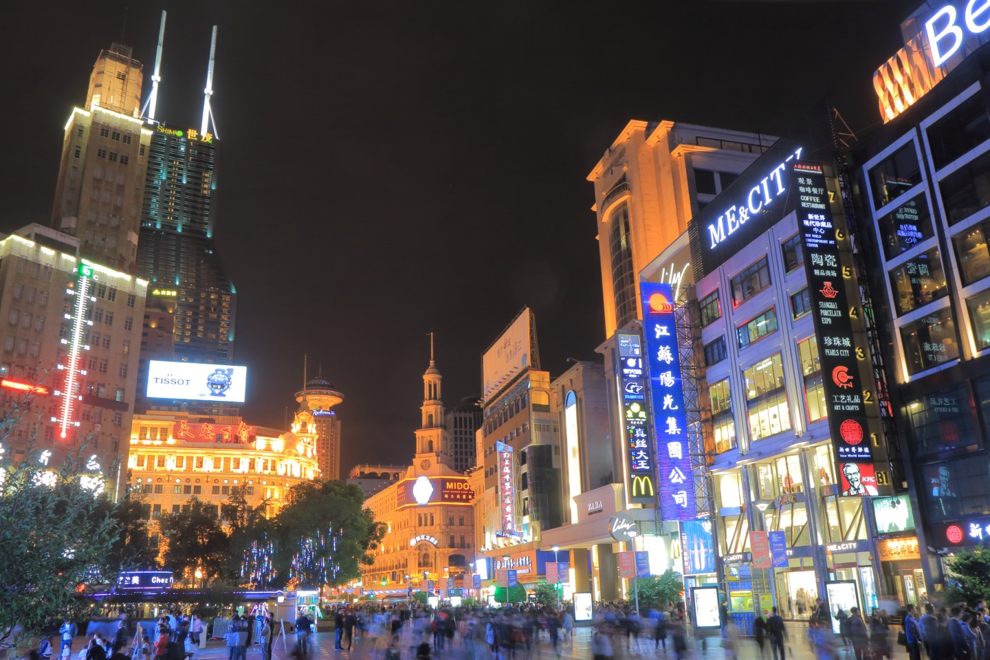 The Nanjing Road shopping street in Shanghai, China. (iStock)