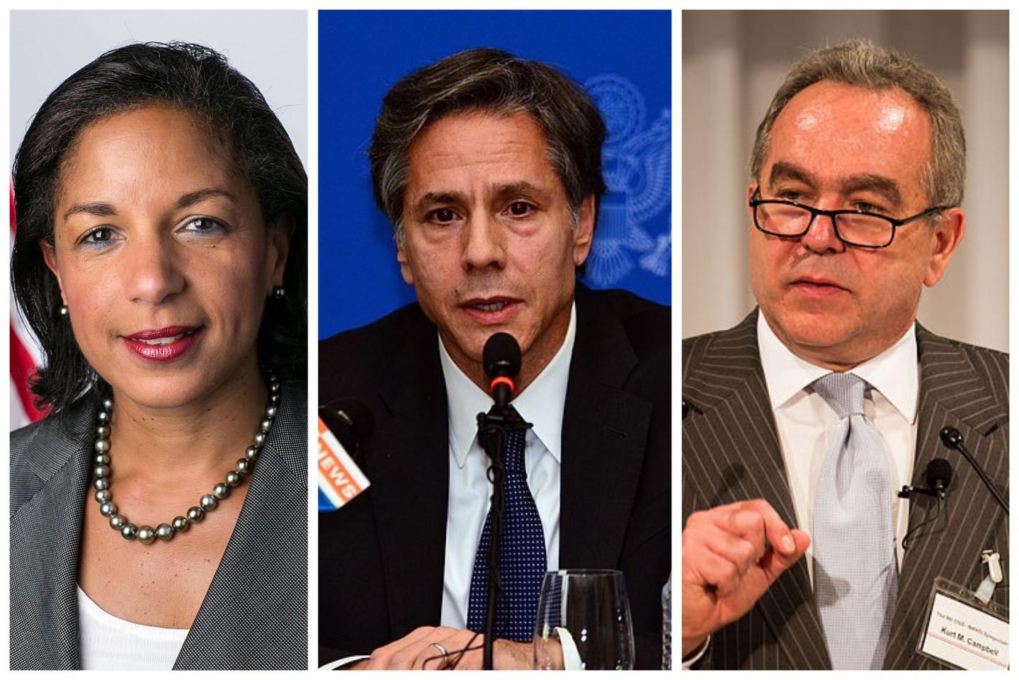 Susan Rice, Antony Blinken, Kurt Campbell. (Wikimedia)