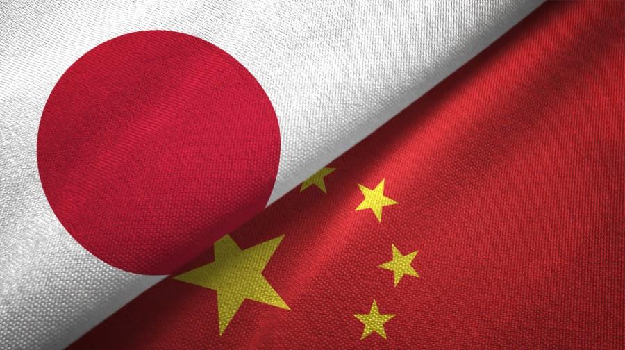 japan china flags