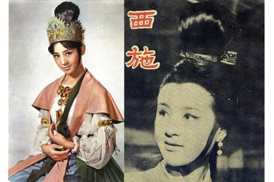 Movie stills of Chiang Ching in A Maid from Heaven (left) and Xi Shi. (Internet)
