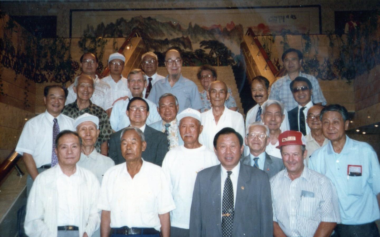"""Flying Tigers """"Return to China"""" tour, Kunming, 1985."""