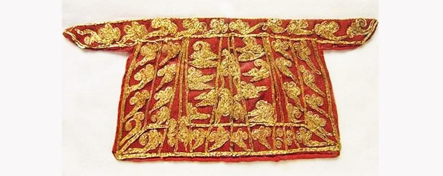 Empress Wu Zetian's embroidered skirt. (Internet)
