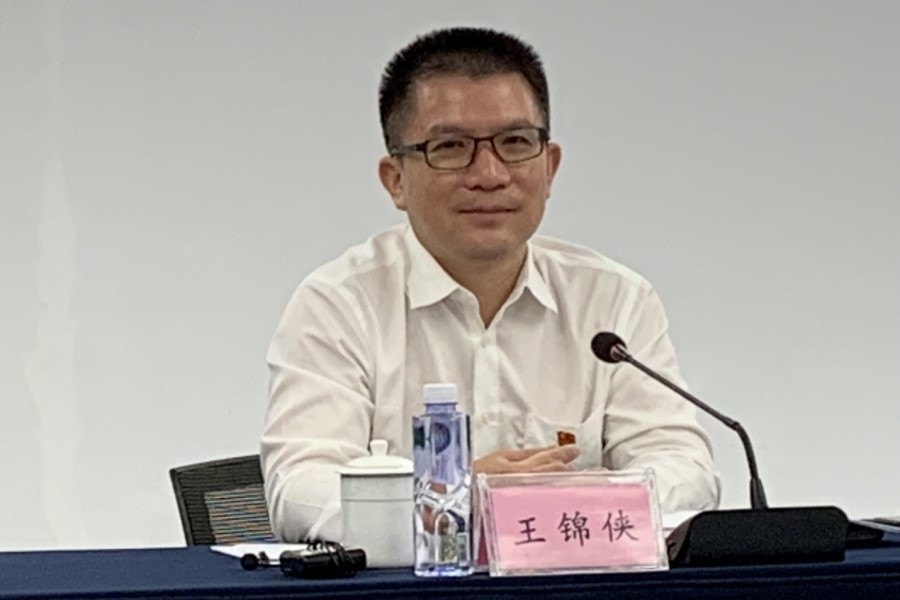 Wang Jinxia, deputy director of China (Guangdong) FTA Qianhai Shekou's administrative committee, told reporters that Qianhai has seen great changes over the past six years. (Photo: Han Yong Hong)