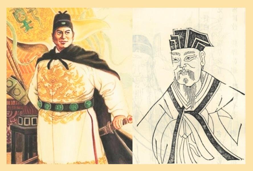 Ming dynasty explorer Zheng He (right) and Han dynasty explorer Zhang Qian. (Internet)