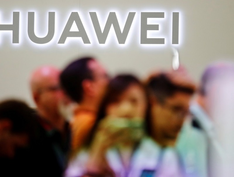The Huawei logo is pictured at the IFA consumer tech fair in Berlin, Germany, on 6 September 2019. (Hannibal Hanschke/File Photo/Reuters)