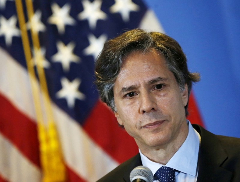 US Deputy Secretary of State Antony Blinken listens to journalists' questions during a news conference, at a hotel in Mexico City, 30 April 2015. (Henry Romero/File Photo/Reuters)
