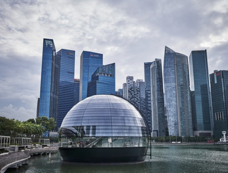The central business district (CBD) of Singapore, 28 January 2021. (Lauryn Ishak/Bloomberg)