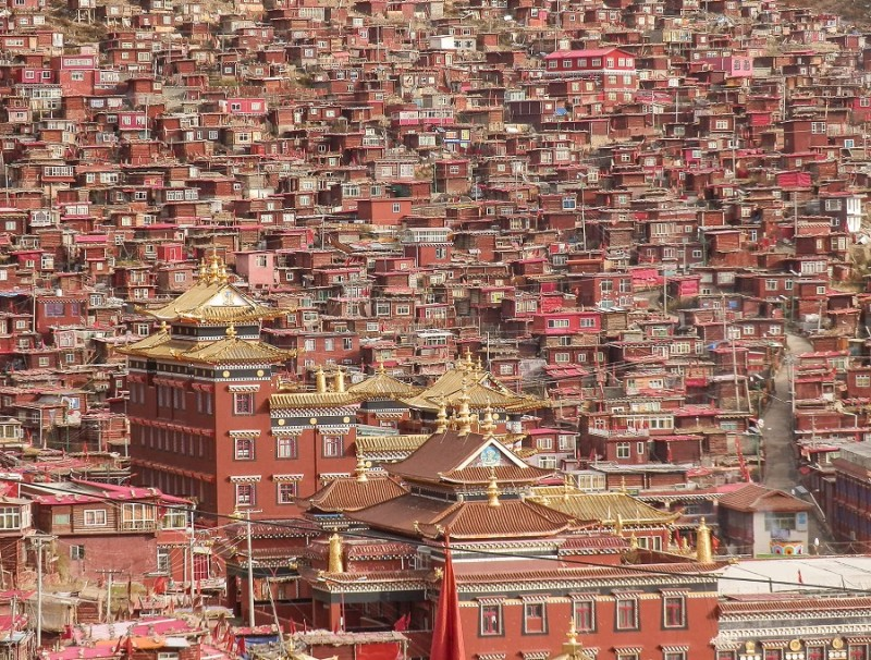 The Larung Gar, a community in Sertar County of the Garzê Tibetan Autonomous Prefecture, in Sichuan, China.