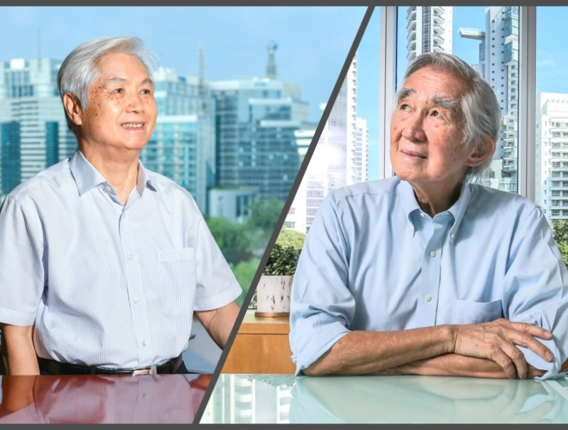 Ke Huanzhang (left) and Liu Thai Ker are veteran urban planners in China and Singapore. (SPH)