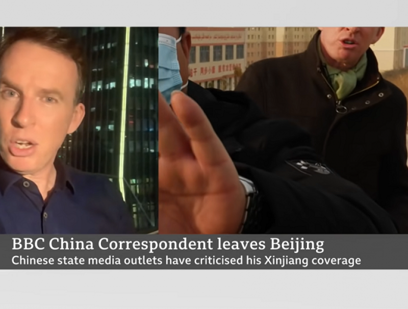 John Sudworth says that he has been facing pressure and threats from the Chinese authorities following his reports on sensitive topics. (Screengrab from the BBC News YouTube channel)
