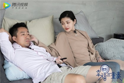 Wang Xiaofei and Barbie Hsu participated as a couple in the Chinese reality show Happiness Trio (幸福三重奏) in 2018. (Internet)